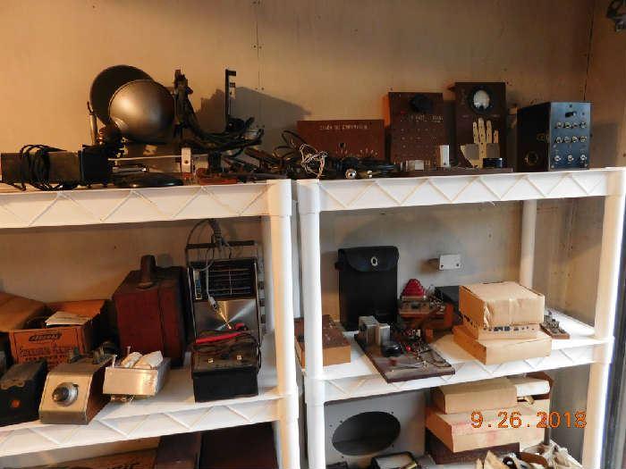 Vintage radio items.