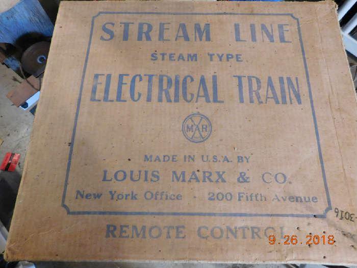 Vintage Louis Marx train set.