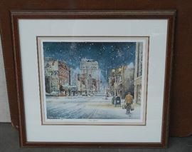 Downtown Greensboro Mangum Print
