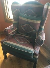 2 of 2 southwestern wing chairs