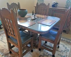 Southwestern dining/game table set
