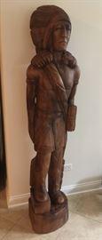wood cigar store figure