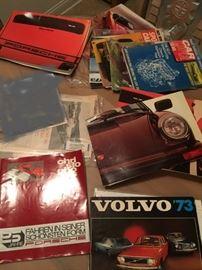 lots of vintage car literature