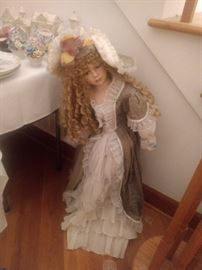 This doll is HUGE!!  It's as tall as the table!