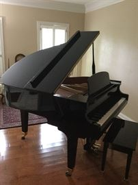 Wurlitzer Baby Grand Ebony Piano