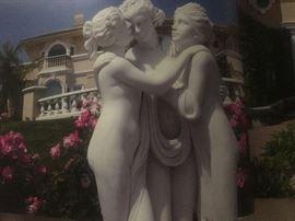 Marble Italian statue