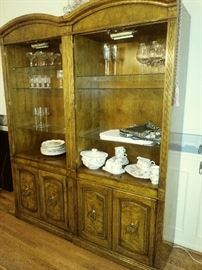 2 china cabinets (doors taken off but available