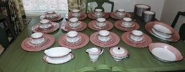 BEAUTIFUL SET OF VINTAGE PINK AND CREAM CHINA  SELLING AS A SET