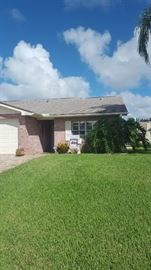 The property is for sale but not through our estate sale.  You can purchase one side or both sides. 1265 sq ft of living space on each side.  Beautiful condition. 3 bdrm/2baths with a nice FL Room on the back.  Contact Lori Clark with Watson Reality @386-846-2072 for additional information!