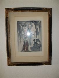"Signed and numbered Salvador Dali ""Divine Comedy"""