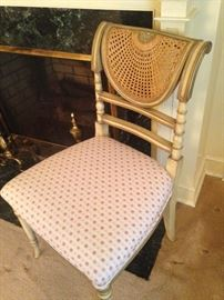 One of two matching beautifully detailed chairs