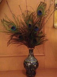 One of two matching vases