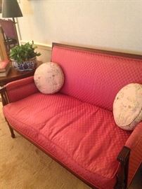 Formal upholstered  settee
