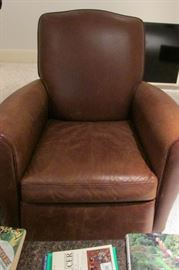 Great leather chair it's the perfect brown