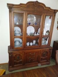 Full size dining room hutch