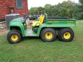 John Deere Gator 1999 6x4   1296 HRS  manual dump box  NEW BACK Tires new drive Belt  recently serviced locally