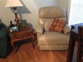 La-Z-boy recliner and end table