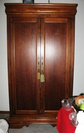 "Wardrobe/cabinet  74""x 20""x 40"" approx measurements BUY IT NOW    $ 245.00"