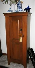 "Wood cabinet with latch   22"" x 12"" x 58"" sizes approx. BUY IT NOW  $ 135.00"