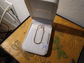 14K Money clip/paper clip