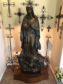 "Bronze Lady of Guadalupe Virgin Mary & Baby Jesus Life Size Statue  $16,000 Purchased approximately 20 years ago. This statue stands 5'3"" and the base is 23"" wide. She stands on a custom made pedestal which is included.  She is Italian bronze and numbered.  Must be able to load yourself. We accept Credit Cards.  Located in Richmond"