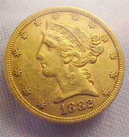 1882 $5 Gold1