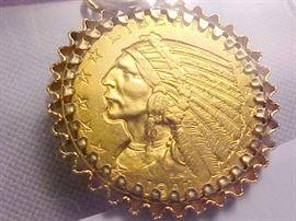 1911 $5 Gold 14K Bezel2