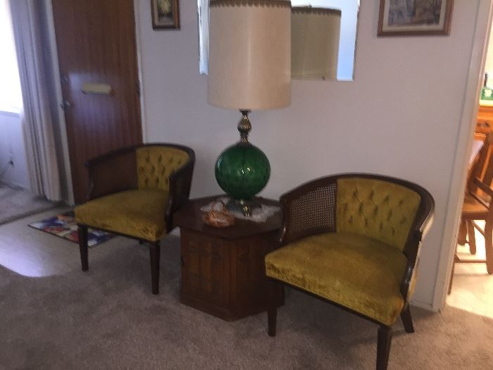 Mid Century lamps and decor.