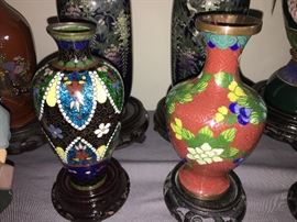 Chinese cloisonne collection- some pieces date back to the early 1900's.