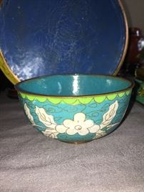 This little bowl is beautiful.  Excellent color and wear for it's age.