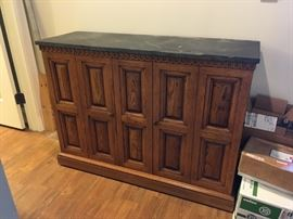 Console with slate top
