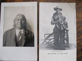 Indian/Rattlesnake Joe postcards