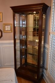 "Phillip Reinisch Co. Lighted Curio 34""  Wide X 77"" Tall X 15"" Deep"