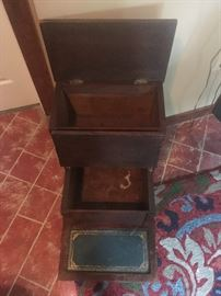 Antique Bed Step- with 2 storage bins.  $450.00