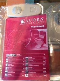 Remote & User Manual to Acorn Stairlift
