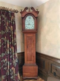 Antique American Tall Case clock with calendar face