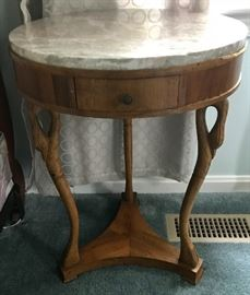 One of several similar tables for sale, some smaller with ormolu gallery edges
