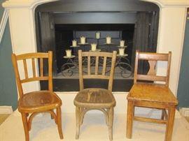 Vintage Children's wood chairs