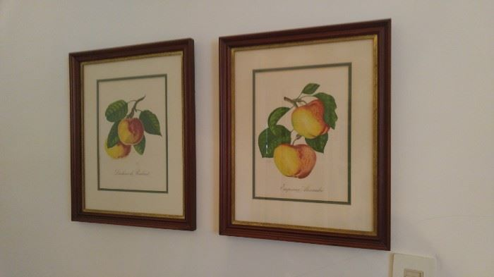 Love these vintage peach lithographs