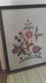Handmade embroidery Floral picture