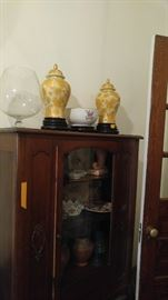 Antique china cabinet in everything inside