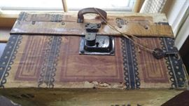 Wonderful antique box with key