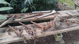 Vintage farm tools