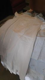 Antique linen Christening gowns