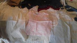 Vintage linen baby clothes