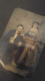 Antique tin type photo's GREAT
