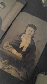 Early tin type lady