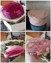 Vintage hats & boxes