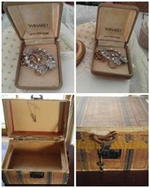 Wonderful antique letter box with key