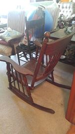 Antique rockers & chairs